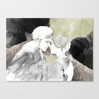 jane eyre Canvas Prints featuring Jane Eyre Editorial #1 by Autumn Rose Northcraft