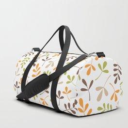 Assorted Leaf Silhouettes Retro Colors Duffle Bag