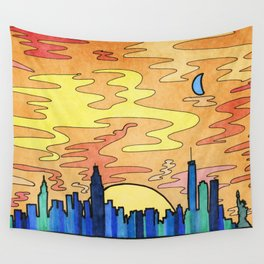 NYC Skyline Wall Tapestry