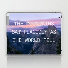 The mountains sat placidly Laptop & iPad Skin