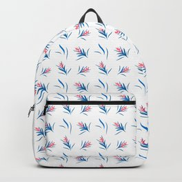 Heliconia Flower Blue&White Backpack