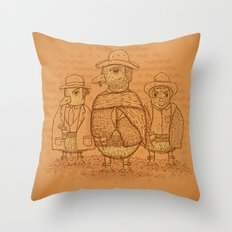 The Good,The Bad and The Ugly.... Ducklings Throw Pillow