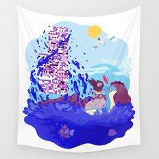 Tiny Worlds - Cinnabar Island Wall Tapestry