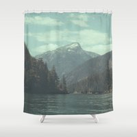 diablo Shower Curtains featuring The departure - Diablo Lake by jordanwlee.com