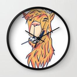 Kamel lachen Wall Clock