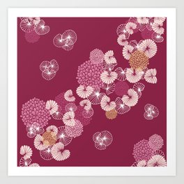 Floral Seamless Pattern Art Print