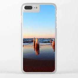 Reflected Remains on the Beach Clear iPhone Case