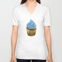 "cupcake V-neck T-shirts featuring ""Cupcake"" by Allana Vazquez"