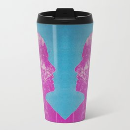 Blue and Pink Litho Print Travel Mug