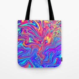Abstract Waves Tote Bag