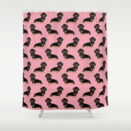 Doxie pattern print dachshund cute pet gifts for dog lover small dog owner animal fur baby hot dog  Shower Curtain