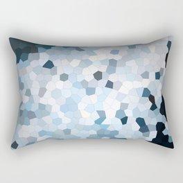 Darkness Meets Light Geometric Rectangular Pillow