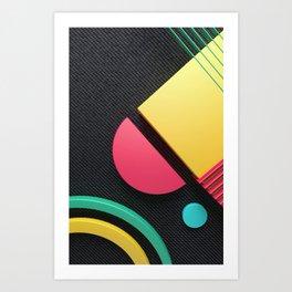 Geos on Denim Art Print