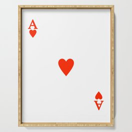 Ace of hearts Costume Halloween Deck of Cards - playing card Serving Tray
