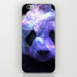 Galaxy Panda Space Colorful iPhone Skin
