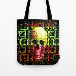 digital Skull (flag of spain) Tote Bag