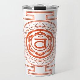 Sri Yantra Sacral Chakra Travel Mug