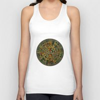 calendar Tank Tops featuring Ancient Calendar by Klara Acel