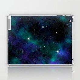 Blue Green Galaxy Laptop & iPad Skin