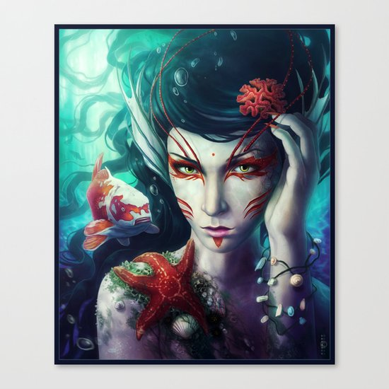 """The Deep is mine"" Canvas Print"