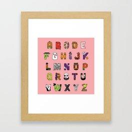 Halloween Alphabet Framed Art Print