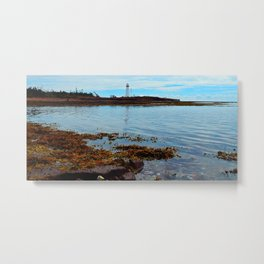 Point Prim Lighthouse Reflected Metal Print