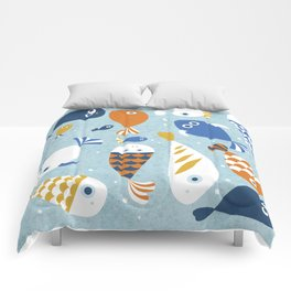 Fish Crowd Comforters