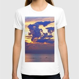 Abstract Clouds over the Sea - The Running Man T-shirt