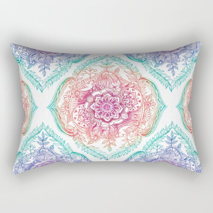 Indian Ink - Rainbow version Rectangular Pillow