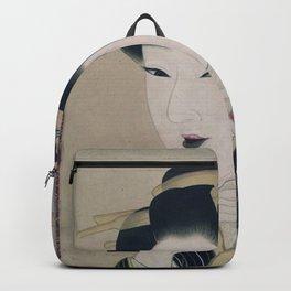 Ukiyoe depicting a Gion geisha Backpack