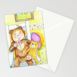Teddybear tea-time Stationery Cards