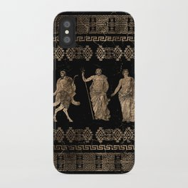 Greek Deities and Meander key ornament iPhone Case
