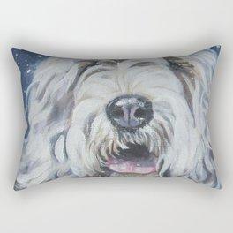 Otterhound dog art portrait from an original painting by L.A.Shepard Rectangular Pillow