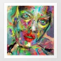 archan nair Art Prints featuring Ultraviolet Drops by Archan Nair