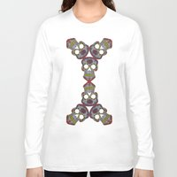 sugar skulls Long Sleeve T-shirts featuring Sugar Skulls by Weeverbee