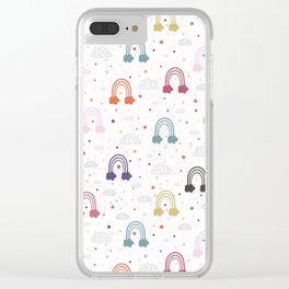 Count Your Rainbows Clear iPhone Case