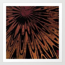 Native Tapestry in Burnt Umber Art Print