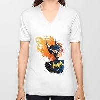 batgirl V-neck T-shirts featuring Batgirl by Станислава Коробкова