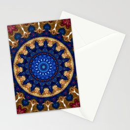 Royal Blue Gold Mandala Design Stationery Cards