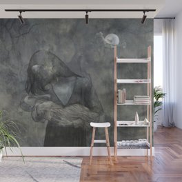 Mother Child Stone Wall Mural