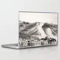 ski Laptop & iPad Skins featuring Ski Town by Patti Toth McCormick