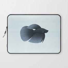 betta splendens black veiltail male Laptop Sleeve