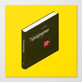 1.0 //  The Complete Typographer by Will Hill Canvas Print