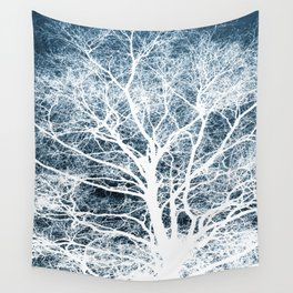 Tree silhouette Wall Tapestry