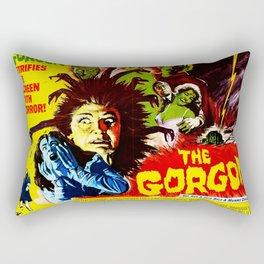 The Gorgon, vintage horror movie poster, 1964 Rectangular Pillow
