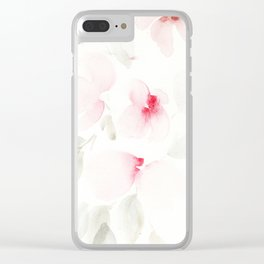 pink florals Clear iPhone Case