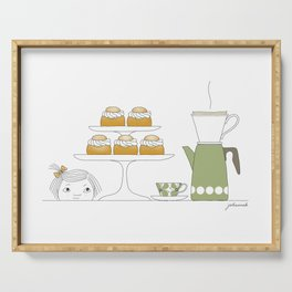 Fika with Semlor Serving Tray