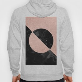 Rose Glitter and Black Marble Hoody