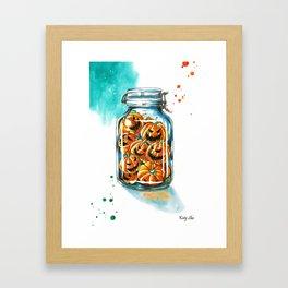 pickled pumpkins Framed Art Print