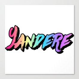 Yandere Rainbow Canvas Print